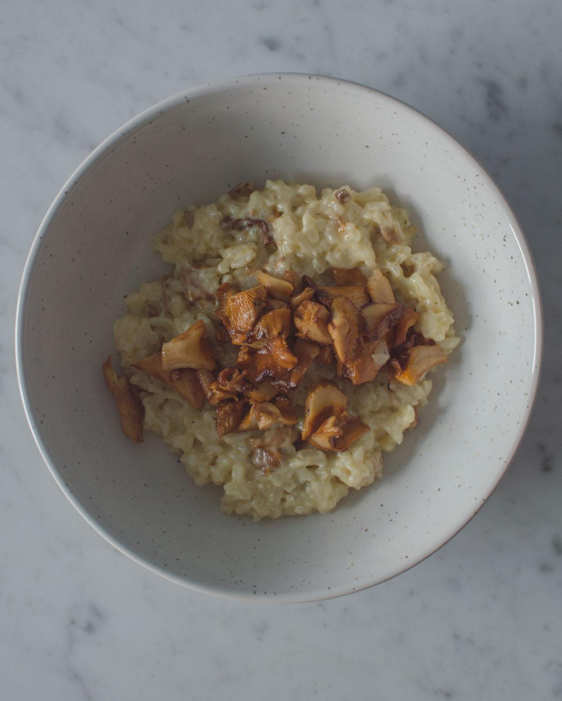 Recept: kantarellrisotto med Västerbottenost
